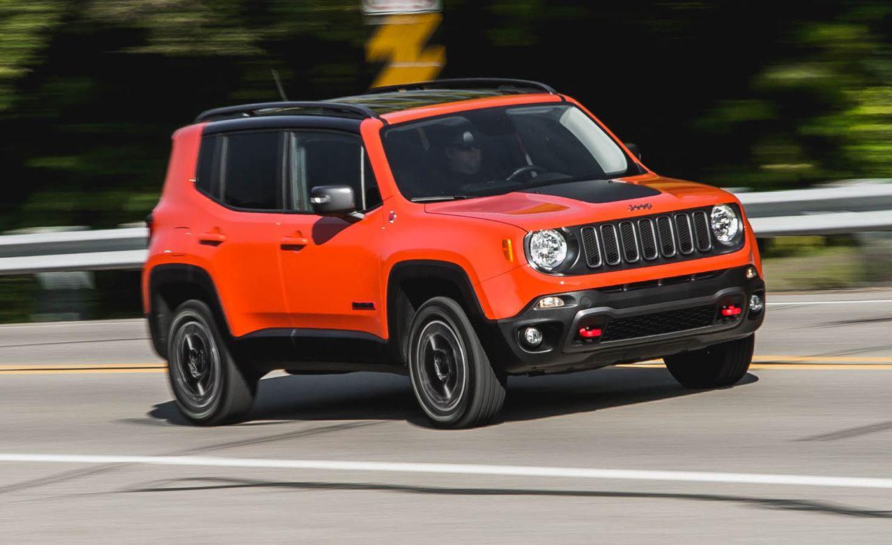 najviac poruchové autá, Jeep Renegade, červené auto, Suv