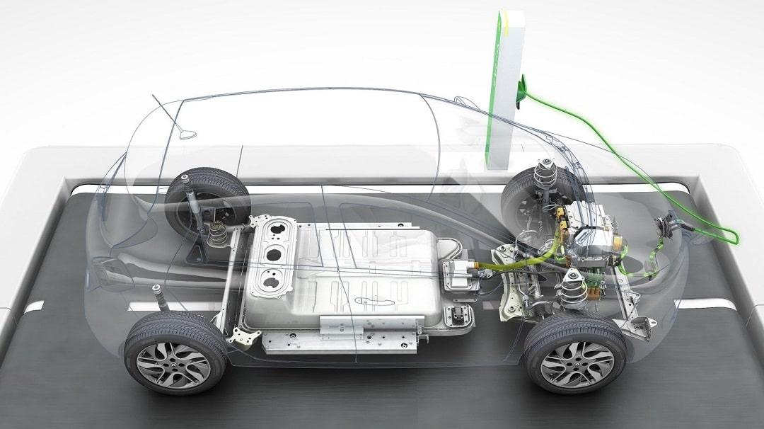 elektromobil, dobíjanie elektromobilu, elektrické auto, hybridné vozidlo vs elektrické auto, podvozok elektromobilu